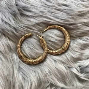 Jewelry - Large Gold Spiral Hoops